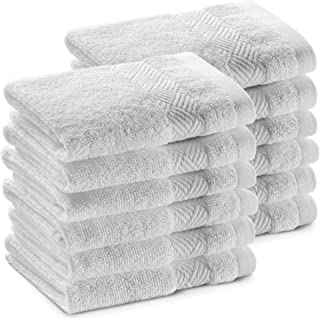 "Alibi Washcloth Face & Body Towel Set | 12 Pack of Soft & Absorbent 13""x13"" Luxury Cotton Small Towels 