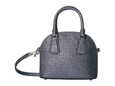 Kate Spade New York Sylvia Glitter Mini Dome Satchel (Moonglow) Bags