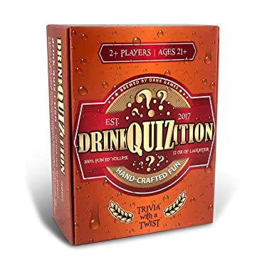 DrinkQuizition Trivia Drinking Card Game - Fun & Fresh Games for Adult Parties & Get-Togethers - Answer Common Knowledge & Trivia Questions or Get Drunk - Cool & Hilarious Activity for Adults 21 & Up