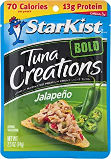 StarKist Tuna Creations BOLD Jalapeño – 2.6 oz Pouch (Pack of 24) (Packaging May Vary)