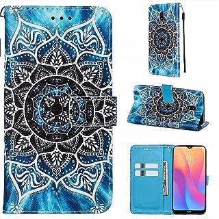 CRABOT Funda para Xiaomi Redmi 8A Cover Case Ranura para Tarjeta Billetera Patrón de en 3D Hebilla Magnética Cubierta Prot...