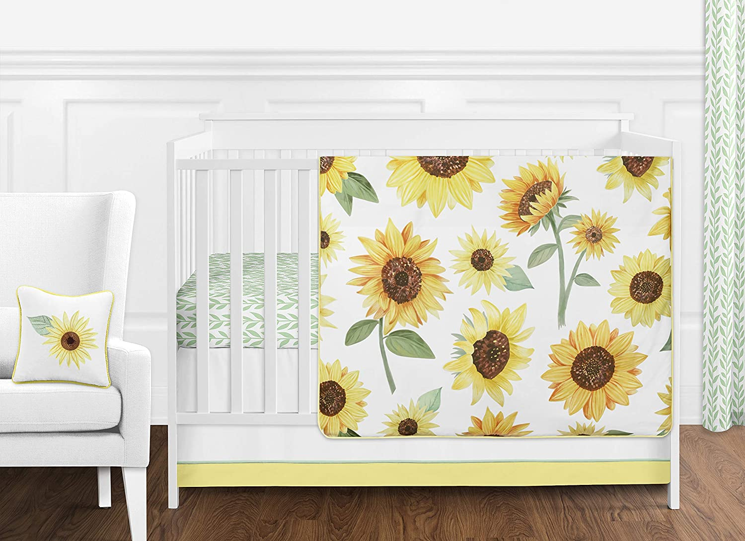 Sweet Jojo New product! New type Baltimore Mall Designs Yellow Green White Boho Floral and Sunflower