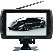 SuperSonic SC-195 Portable Widescreen LCD Display with Digital TV Tuner, USB/SD Inputs and AC/DC Compatible for RVs, 7-Inch