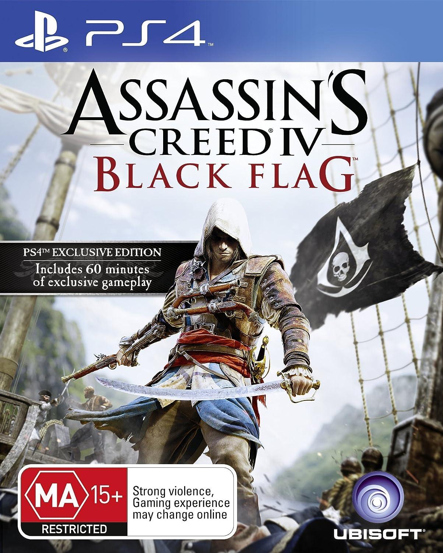 Assassin's Creed IV: Black OFFer half PS4 Flag