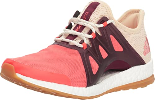 Adidas Perforhommece Wohommes Pureboost Xpose Clima Running chaussures, Easy Coral blanc Light Maroon, 10 M US