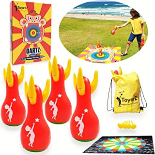 Toyerz Darts, 4 Inflatable Lawn Darts Outdoor Games. Outdoor Games for Adults and Family. Backyard Family Games for Kids O...