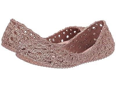 Mini Melissa Mel Campana Crochet (Little Kid/Big Kid) (Pink Glitter) Girl