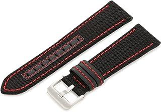 Hadley-Roma Men`s MSM848RA 180 18-mm Black Genuine `Kevlar` Watch Strap