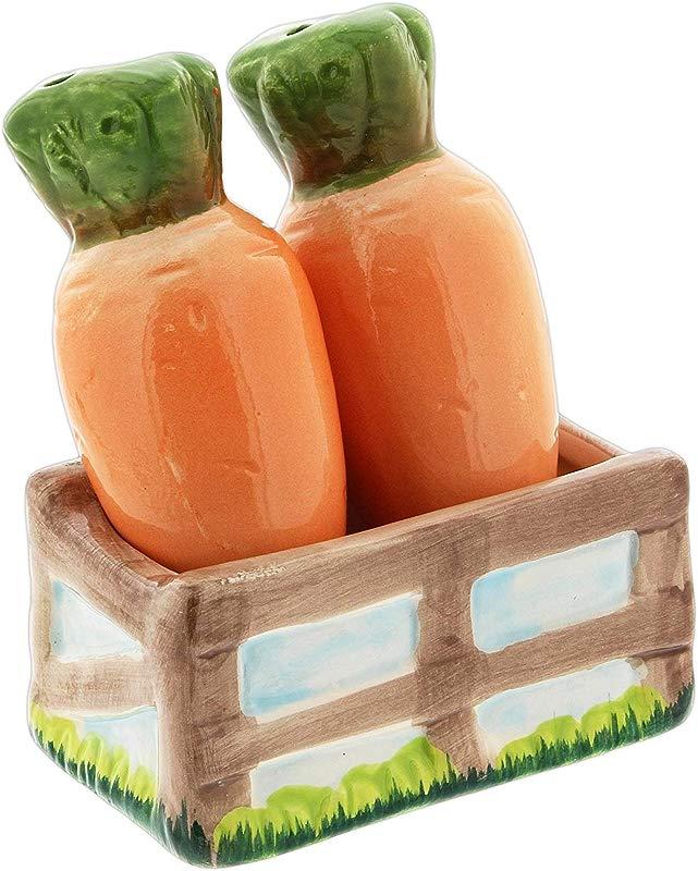 Novelty Ceramic Carrots Salt Pepper Shaker Set