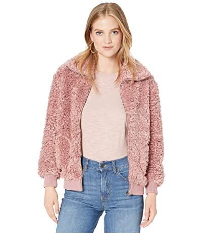 BB Dakota Teddy Or Not Fleece Jacket (Rose Quartz) Women