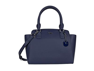 Lacoste Daily Classic Top-Handle Bag (Peacoat Blue) Satchel Handbags