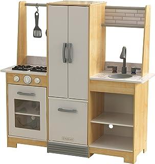 KidKraft 53423 Cuisine enfant en bois Modern-Day, jeu d'imitation incluant accessoires et EZ Kraft Assembly™