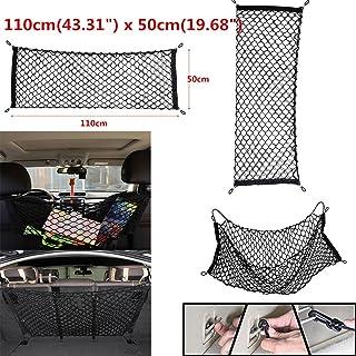 Triclicks 110 x 50cm Auto Netz Gepäcknetz Kofferraumnetz Kofferraum Organizer Hintere Lagerung mit 4 Haken für SUV / RV Schrägheck kompatibel