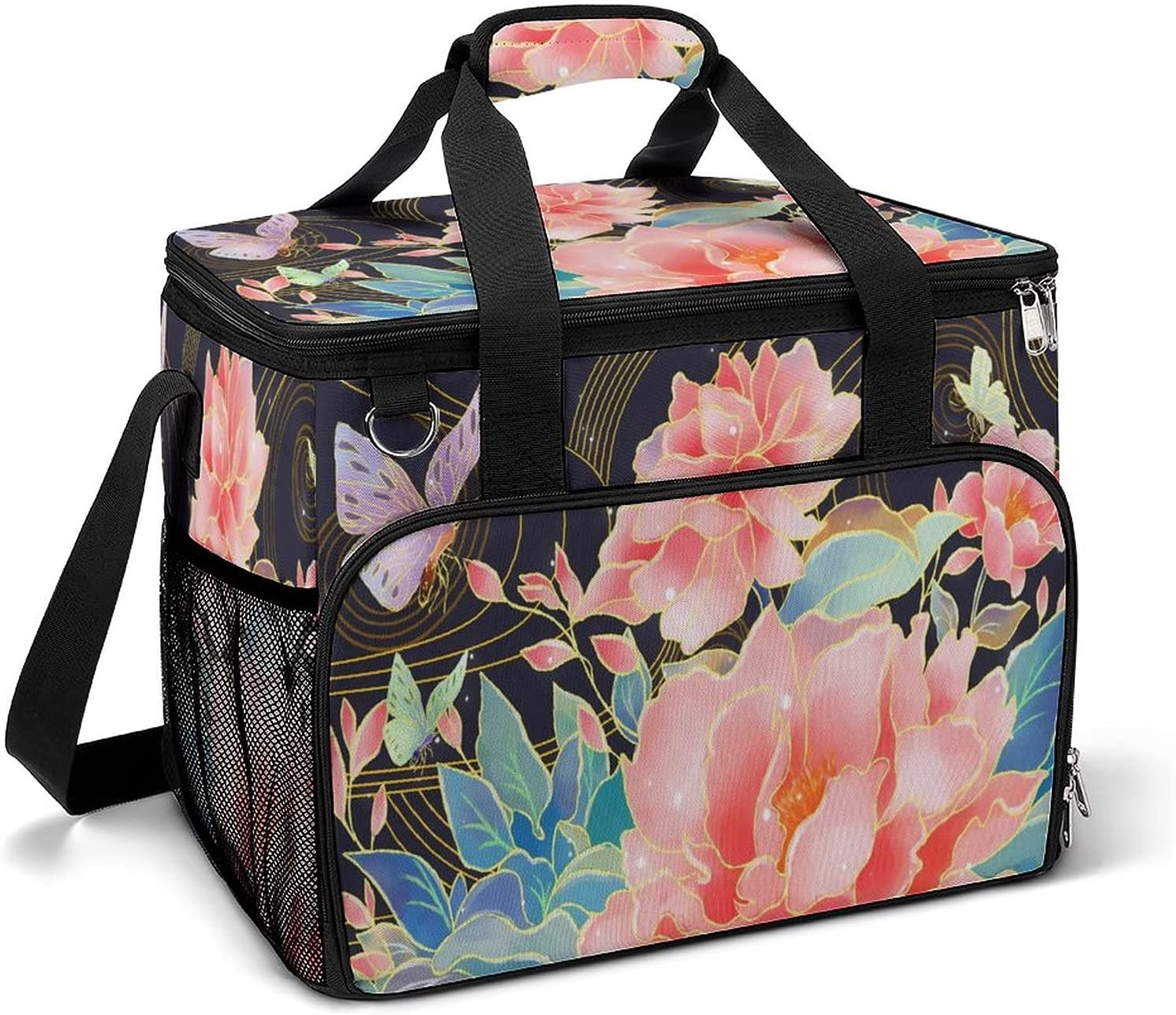 Cooler Ice Bag Flowers with wholesale Butterfly Pattern Store Portable Custom La