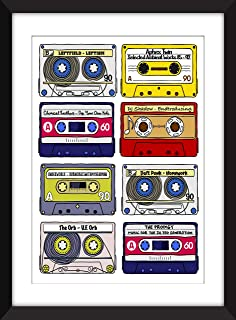 Classic 90s Electronic Albums - Unframed Print - Ideal Gift for Dance Music Fans/Sin Marco
