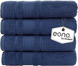 Eono van Amazon, badhanddoeken (28 x 55 inch) 4-delige set,(Marineblauw)