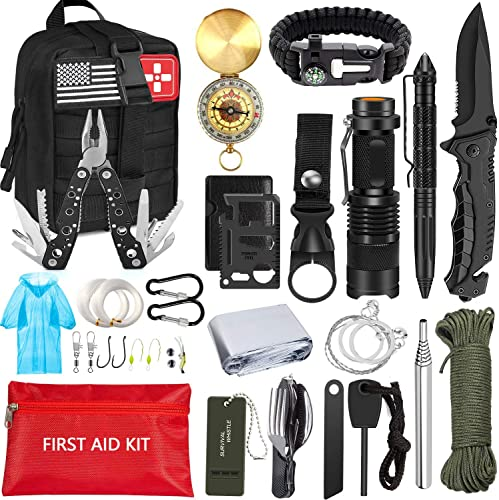 new arrival MIBOTE wholesale Emergency Survival Kit, new arrival Professional Survival Gear Tool First Aid Kit SOS Emergency Survival Kit with Molle Pouch for Camping Adventures online sale
