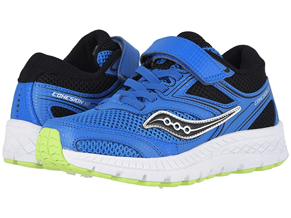 Saucony Kids Cohesion 12 A/C (Little Kid) (Blue/Black) Boys Shoes