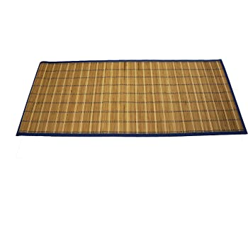 """Emerald Wholesale Bamboo Mat Runner with Foam Non-Skid Backing, 24 x 60"""", Blue"""