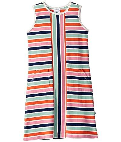 Toobydoo Mod Dress (Toddler/Little Kids/Big Kids) (Multicolored Stripe) Girl