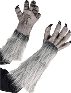 AMSCAN Gray Werewolf Gloves for Halloween Costumes, 18