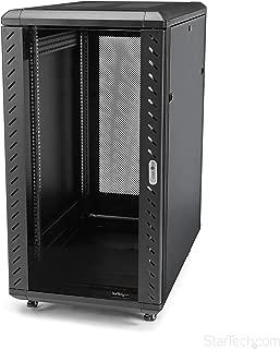 StarTech.com 22U Server Rack Cabinet on Wheels - 36 inch Adjustable Depth - Portable Network Equipment Enclosure (RK2236BKF)