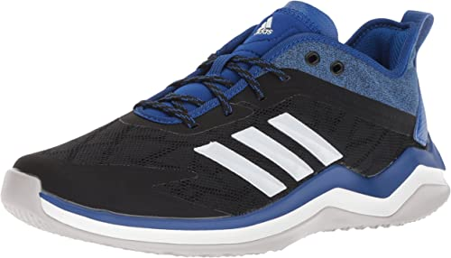 Adidas Men's Speed Trainer 4 Baseball chaussures, noir Crystal blanc Collegiate Royal, 18 M US