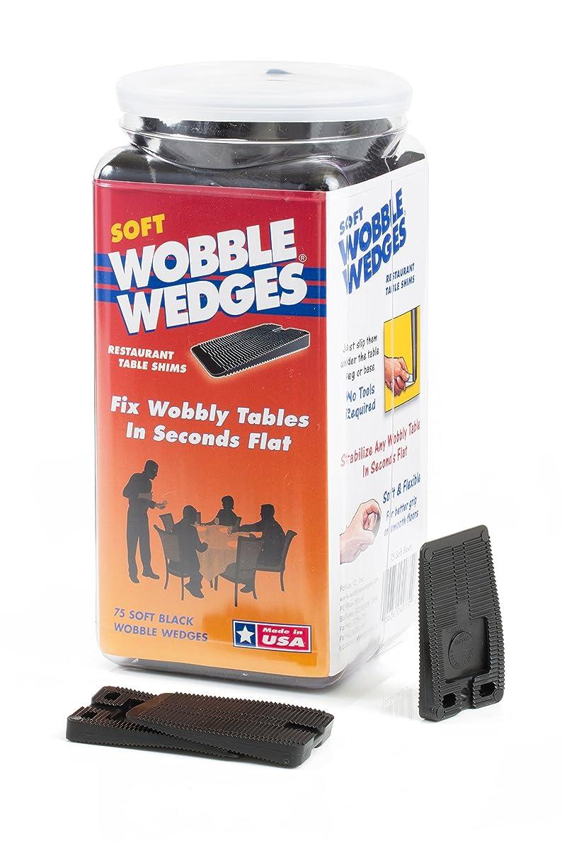 Wobble Wedge - Soft Black - Table Shims - 75 pc