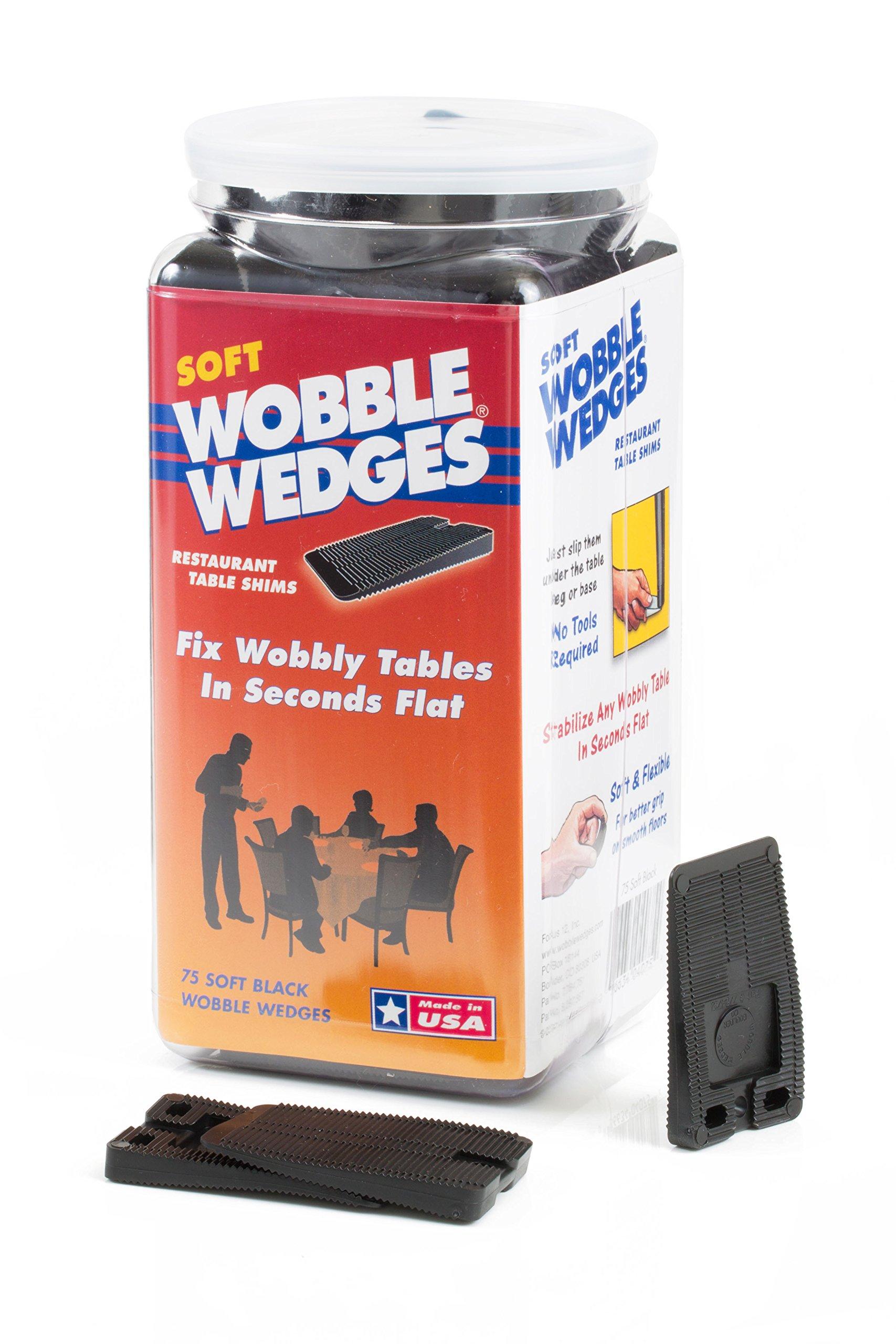 Hard Black 30 Piece Jar Wobble Wedge Restaurant Table Shims