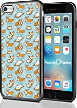 Playful Corgi Pattern On Blue For Iphone 7 (2016) & Iphone 8 (2017) Case Cover By Atomic Market