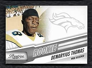 2010 Panini Playoff Prestige #230 Demaryius Thomas Rookie Card Denver Broncos