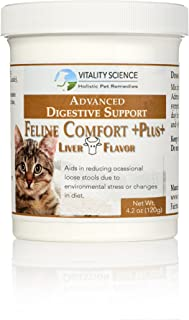Vitality Science Feline Comfort Plus | Extra Drying Digestive Aid for Cats | Advanced GI Support Helps with Vomiting and Diarrhea | 100% Additive Free