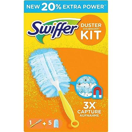 Swiffer Duster Kit Plumeau Attrape-Poussière + 5 Recharges