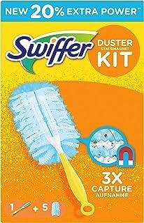 Swiffer Duster Plumeau Poussière, Kit 1 Manche + 6 Pièces