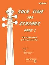 Solo Time for Strings, Bk 3: Violin
