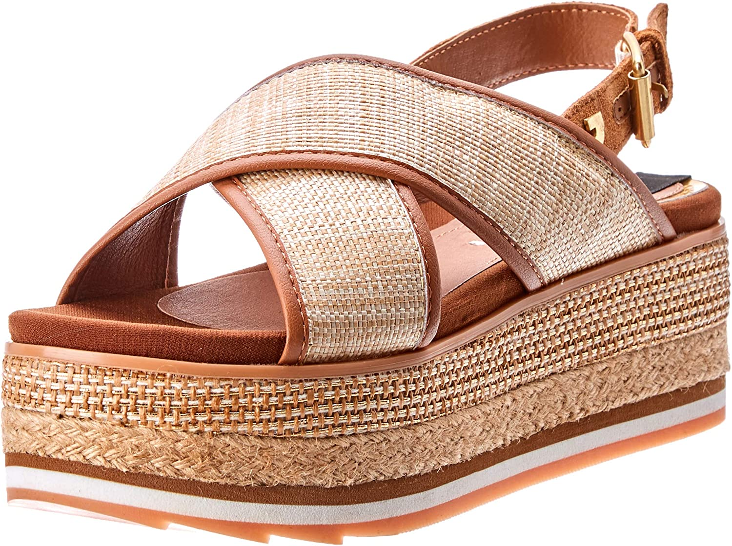GIOSEPPO women's shoes wedge sandals 47205 NATURAL CHAIDARI
