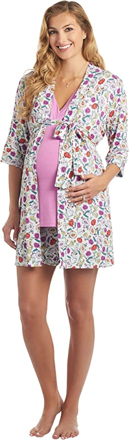 Adaline Maternity/Nursing Mommy & Me Five-Piece PJ Set