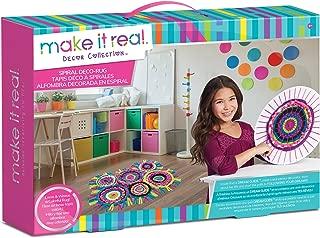 Make It Real Spiral Deco-Rug Weaving Loom Craft Kit for Kids