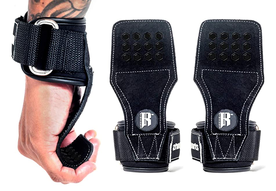 Weight Lifting Gloves With Wrist Straps - Lifting Straps With Power Grip For Deadlifts - Weightlifting Gloves For Max Weight & Reps - Non-slip Weight Lifting Wrist Straps With Lifting Grips (Pair)
