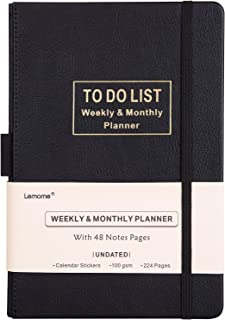 """Planner - Academic Weekly, Monthly and Yearly Planner with to-Do List. Thick Paper to Achieve Your Goals, 5.75"""" x 8.25"""", Back Pocket with 48 Notes Pages - Undated"""
