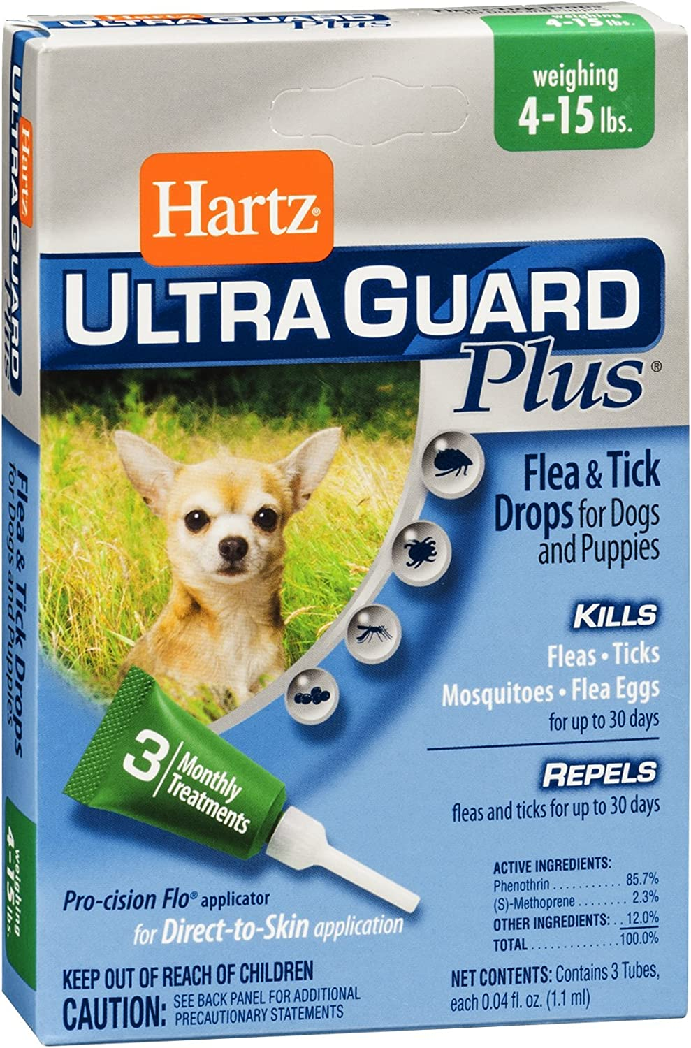 Hartz Ultra Guard Plus Drops For Dogs 415 Lbs. by HARTZ