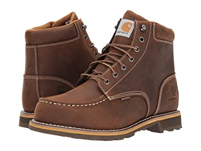 Carhartt 6 Waterproof Non-Safety Moc Toe Lug Boot (Dark Bison Oil Tanned) Men