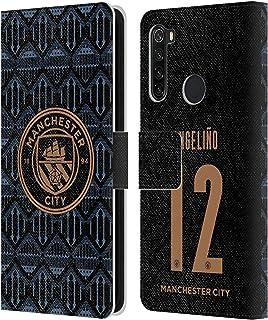 オフィシャルManchester City Man City FC Angeli?o 2020/21 プレイヤーズ・アウェーキット グループ2 Xiaomi Redmi Note 8T 専用レザーブックウォレット カバーケース