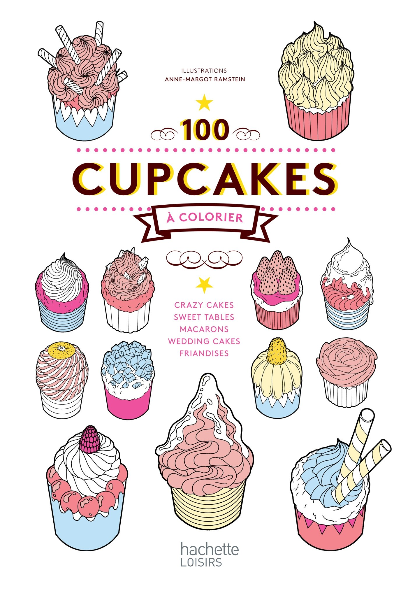 Image Of100 Cupcakes à Colorier
