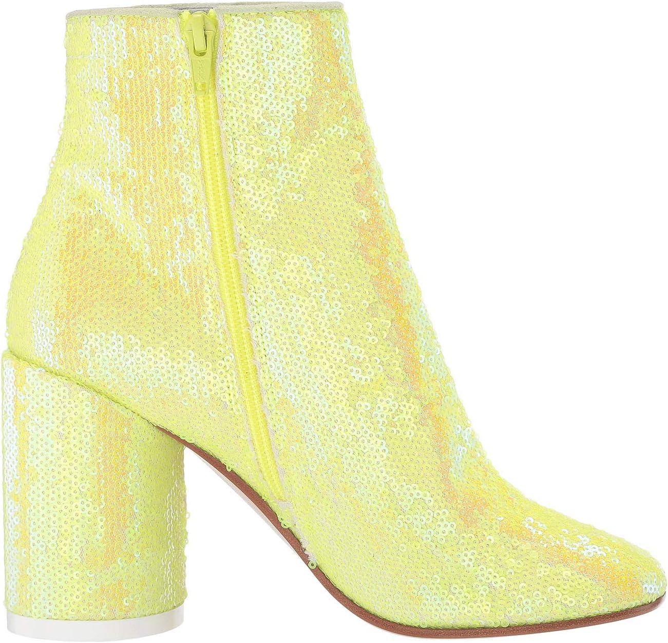 MM6 Maison Margiela Classic Round Heel Sequin Boot   Women's shoes   2020 Newest