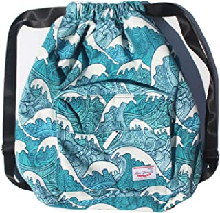 Dry Wet Separated Swimming Bag Floral Waterproof Drawstring Backpack Pool  Beach Travel Gym Bag c5ee9dca265a9
