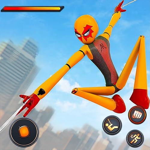 Flying Spider Rope Hero Super City Crime Simulator