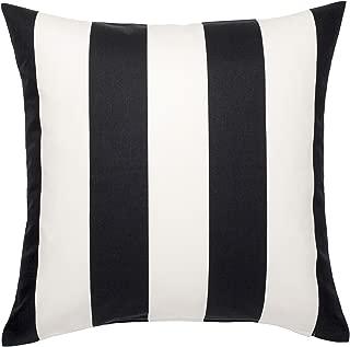 Ikea Vargyllen Striped Black and White 100 Percent Cotton Cushion Cover