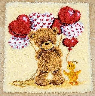 Coussin Loquet crochet Kit Tapis Kits Crochet for Home Décor débutants bricolage Loquet crochet Coussin Kits Loquet Accroc...