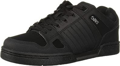 DVS Men's Celsius Skate Shoe, Black Leather, 7.5 Medium US